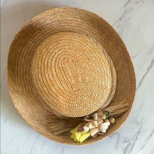 Straw Floral Hat | New Without Tags